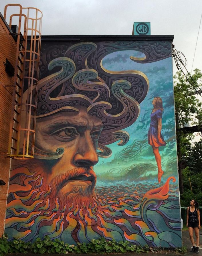 Street art in Moncton, Canada
