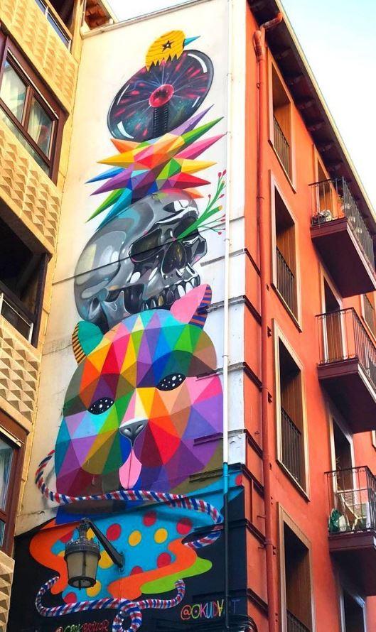 Street art in Santander, Spain