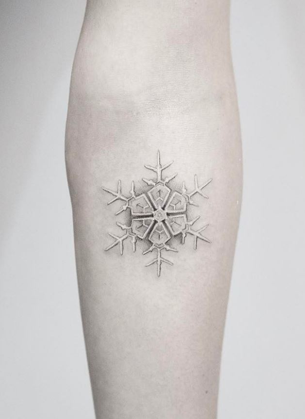 Cool Snowflake Tattoo