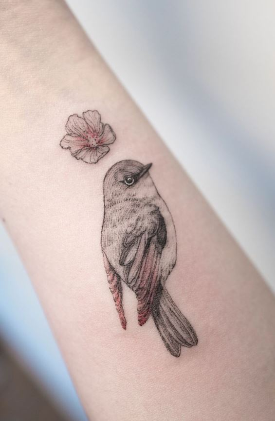 Cute Bird Tattoo