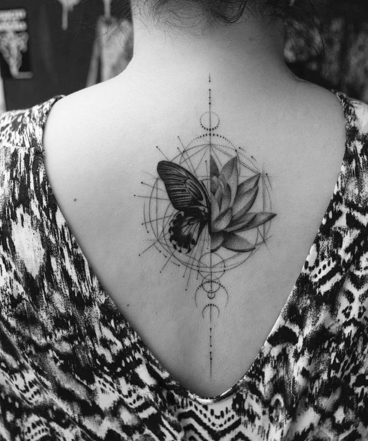 Lotus Butterfly Tattoo
