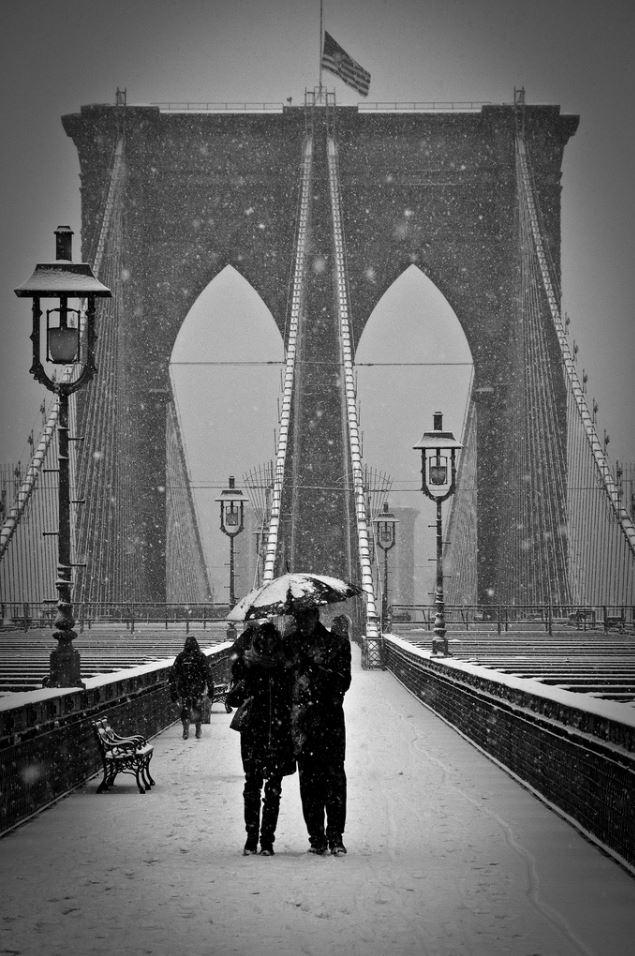 Snowing in Brooklyn