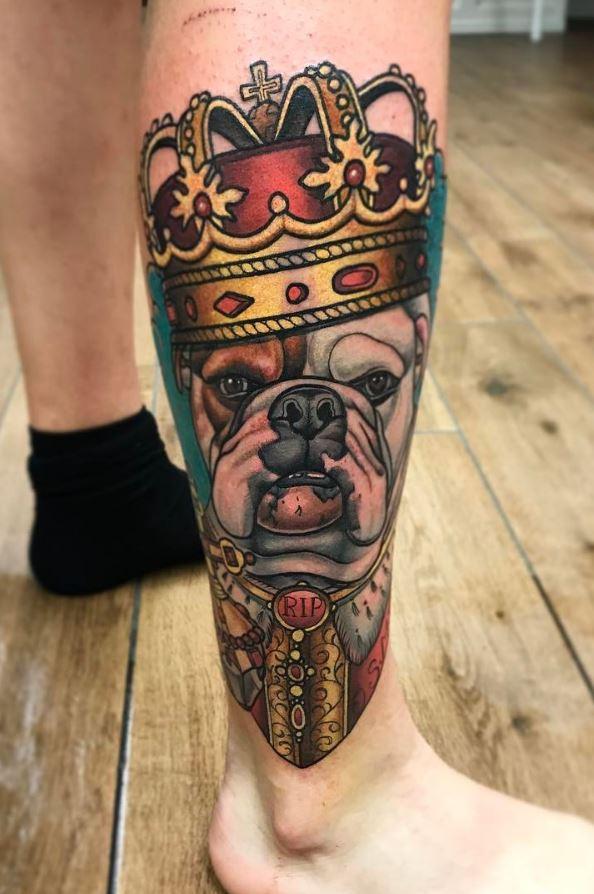 The Dog King Tattoo