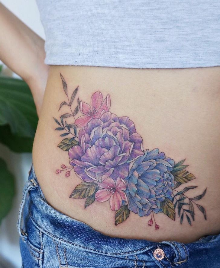 Stunning This Tattoo Artist Uses Real Flowers To Create: 40 Fantastic Pastel Tattoos From Amazing Tattoo Artist G