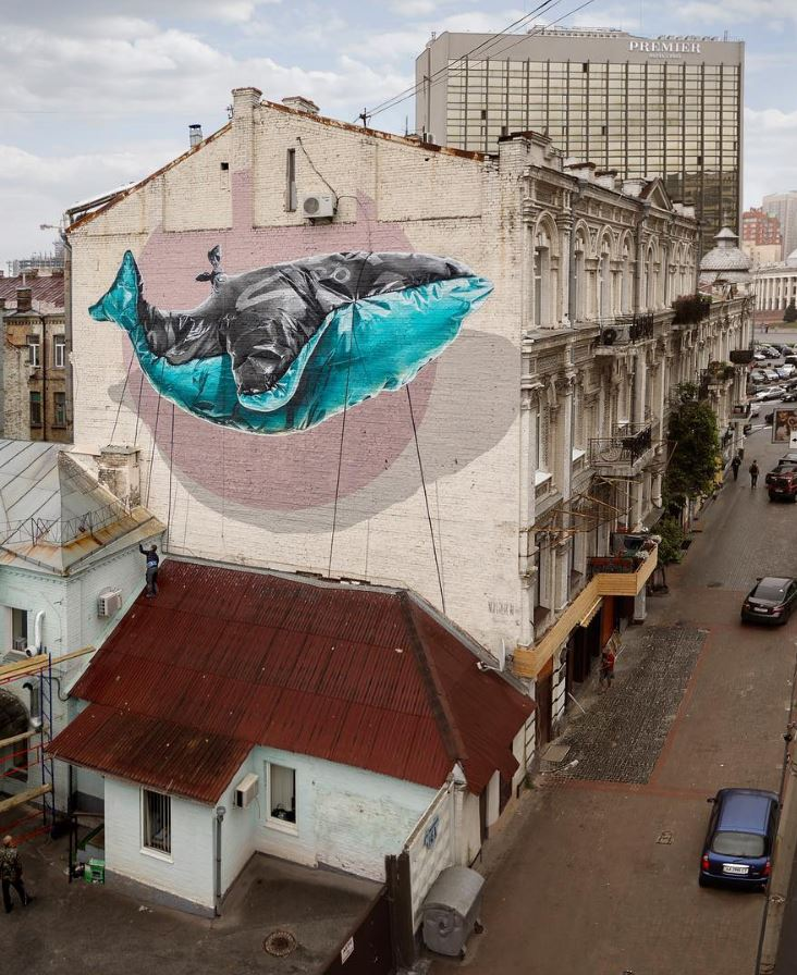 Encumbering machine in Kiev, Ukraine by @nevercrew