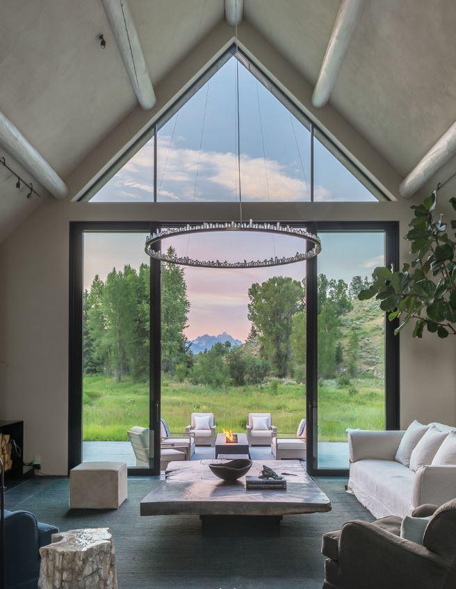 Fishing Cabin, Jackson, Wyoming - Living Room